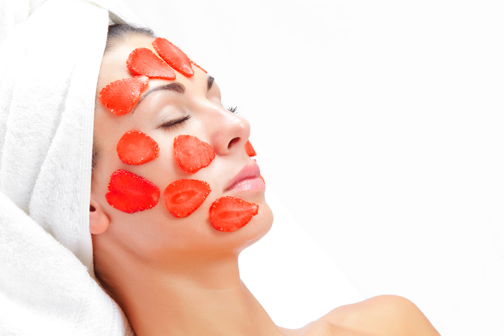 The mask of strawberry facial photo