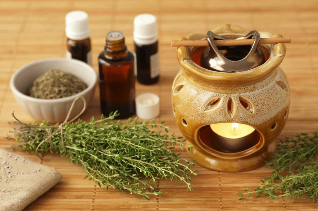thyme in cosmetic facial photo